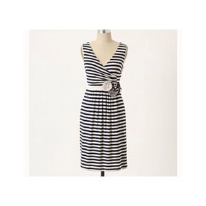 Little Yellow Button Perilla Striped Dress Sz L